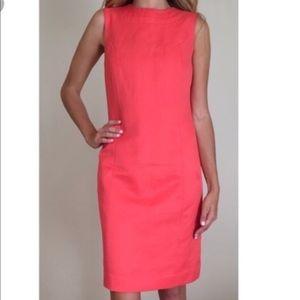 Tory Burch Pink Coral Wool Silk Shift Dress